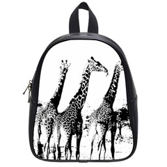 Giraffe  School Bag (small) by Valentinaart