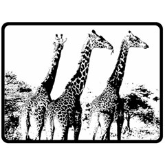 Giraffe  Fleece Blanket (large)  by Valentinaart