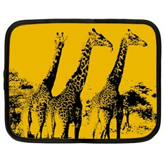 Giraffe  Netbook Case (large) by Valentinaart