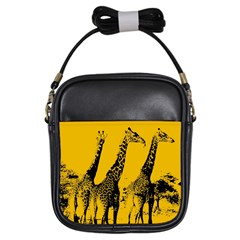 Giraffe  Girls Sling Bag by Valentinaart
