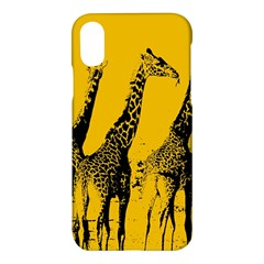 Giraffe  Apple Iphone X Hardshell Case by Valentinaart