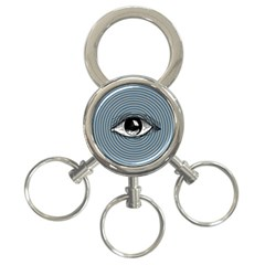 Pop Art Eye 3 Ring Key Chains by Valentinaart