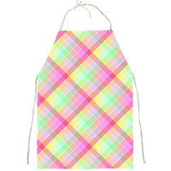 Pastel Rainbow Tablecloth Diagonal Check Full Print Aprons by PodArtist