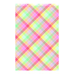 Pastel Rainbow Tablecloth Diagonal Check Shower Curtain 48  X 72  (small)  by PodArtist