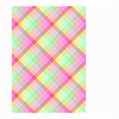 Pastel Rainbow Tablecloth Diagonal Check Small Garden Flag (two Sides) by PodArtist