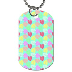 Pastel Rainbow Monstera Dog Tag (two Sides) by PodArtist