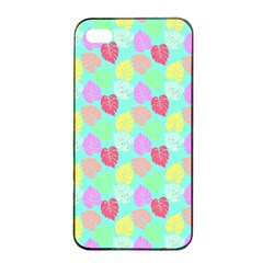 Pastel Rainbow Monstera Apple Iphone 4/4s Seamless Case (black) by PodArtist