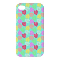 Pastel Rainbow Monstera Apple Iphone 4/4s Premium Hardshell Case by PodArtist