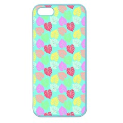 Pastel Rainbow Monstera Apple Seamless Iphone 5 Case (color) by PodArtist