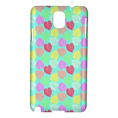 Pastel Rainbow Monstera Samsung Galaxy Note 3 N9005 Hardshell Case by PodArtist