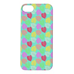 Pastel Rainbow Monstera Apple Iphone 5s/ Se Hardshell Case by PodArtist