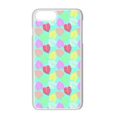 Pastel Rainbow Monstera Apple Iphone 7 Plus Seamless Case (white) by PodArtist