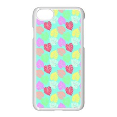 Pastel Rainbow Monstera Apple Iphone 7 Seamless Case (white) by PodArtist