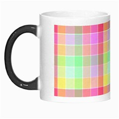 Pastel Rainbow Sorbet Ice Cream Check Plaid Morph Mugs by PodArtist