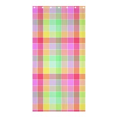 Pastel Rainbow Sorbet Ice Cream Check Plaid Shower Curtain 36  X 72  (stall)  by PodArtist