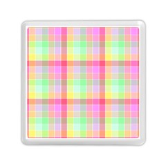 Pastel Rainbow Sorbet Ice Cream Check Plaid Memory Card Reader (square) by PodArtist