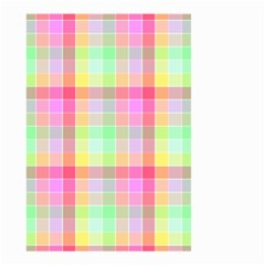 Pastel Rainbow Sorbet Ice Cream Check Plaid Small Garden Flag (two Sides) by PodArtist