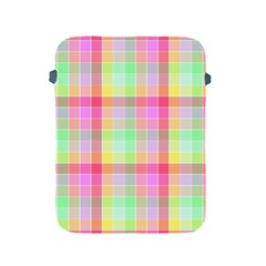 Pastel Rainbow Sorbet Ice Cream Check Plaid Apple Ipad 2/3/4 Protective Soft Cases by PodArtist