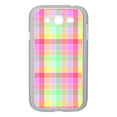 Pastel Rainbow Sorbet Ice Cream Check Plaid Samsung Galaxy Grand Duos I9082 Case (white) by PodArtist