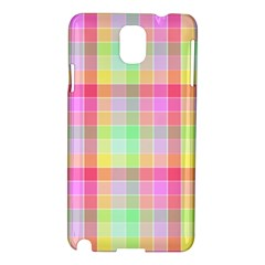 Pastel Rainbow Sorbet Ice Cream Check Plaid Samsung Galaxy Note 3 N9005 Hardshell Case by PodArtist