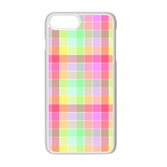 Pastel Rainbow Sorbet Ice Cream Check Plaid Apple Iphone 7 Plus Seamless Case (white) by PodArtist