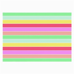 Pastel Rainbow Sorbet Horizontal Deck Chair Stripes Large Glasses Cloth (2 Side) by PodArtist