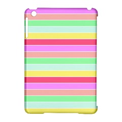 Pastel Rainbow Sorbet Horizontal Deck Chair Stripes Apple Ipad Mini Hardshell Case (compatible With Smart Cover) by PodArtist