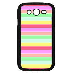Pastel Rainbow Sorbet Horizontal Deck Chair Stripes Samsung Galaxy Grand Duos I9082 Case (black) by PodArtist