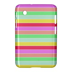 Pastel Rainbow Sorbet Horizontal Deck Chair Stripes Samsung Galaxy Tab 2 (7 ) P3100 Hardshell Case  by PodArtist