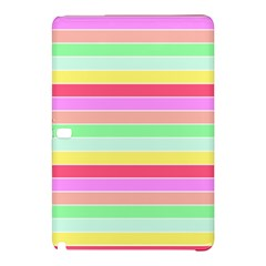 Pastel Rainbow Sorbet Horizontal Deck Chair Stripes Samsung Galaxy Tab Pro 10 1 Hardshell Case by PodArtist