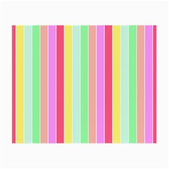 Pastel Rainbow Sorbet Deck Chair Stripes Small Glasses Cloth by PodArtist