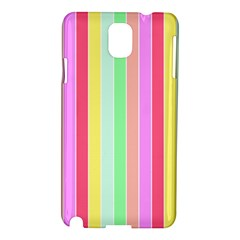 Pastel Rainbow Sorbet Deck Chair Stripes Samsung Galaxy Note 3 N9005 Hardshell Case by PodArtist