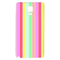 Pastel Rainbow Sorbet Deck Chair Stripes Samsung Note 4 Hardshell Back Case by PodArtist