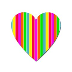Neon Hawaiian Rainbow Deck Chair Stripes Heart Magnet by PodArtist