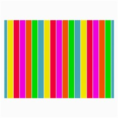 Neon Hawaiian Rainbow Deck Chair Stripes Large Glasses Cloth by PodArtist