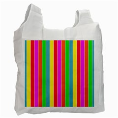 Neon Hawaiian Rainbow Deck Chair Stripes Recycle Bag (one Side) by PodArtist