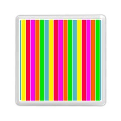 Neon Hawaiian Rainbow Deck Chair Stripes Memory Card Reader (square) by PodArtist