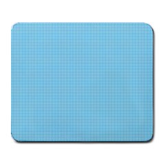 Oktoberfest Bavarian Blue Mini Houndstooth Check Large Mousepads by PodArtist