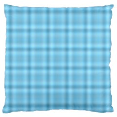 Oktoberfest Bavarian Blue Mini Houndstooth Check Large Flano Cushion Case (one Side) by PodArtist