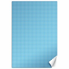 Oktoberfest Bavarian Blue Houndstooth Check Canvas 12  X 18  by PodArtist