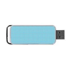 Oktoberfest Bavarian Blue Houndstooth Check Portable Usb Flash (two Sides) by PodArtist