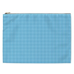 Oktoberfest Bavarian Blue Houndstooth Check Cosmetic Bag (xxl) by PodArtist