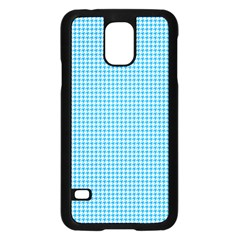 Oktoberfest Bavarian Blue Houndstooth Check Samsung Galaxy S5 Case (black) by PodArtist