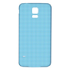 Oktoberfest Bavarian Blue Houndstooth Check Samsung Galaxy S5 Back Case (white) by PodArtist