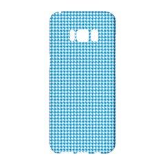 Oktoberfest Bavarian Blue Houndstooth Check Samsung Galaxy S8 Hardshell Case  by PodArtist