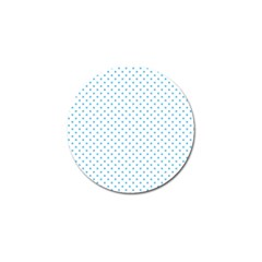 Mini Oktoberfest Bavarian Blue Polkadots On White Golf Ball Marker (10 Pack) by PodArtist