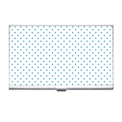 Mini Oktoberfest Bavarian Blue Polkadots On White Business Card Holder by PodArtist