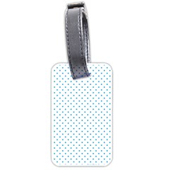 Mini Oktoberfest Bavarian Blue Polkadots On White Luggage Tags (two Sides) by PodArtist