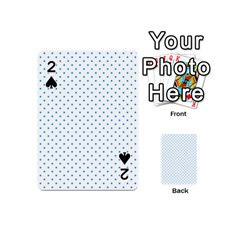Mini Oktoberfest Bavarian Blue Polkadots On White Playing Cards 54 (mini) by PodArtist