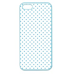 Mini Oktoberfest Bavarian Blue Polkadots On White Apple Seamless Iphone 5 Case (color) by PodArtist